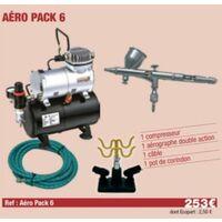 Compresseur + Aérographe Double action + câble + Support Aérographe