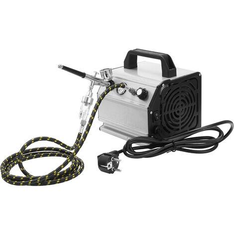 Compresseur d'air + 130 pistolet de pulverisation mis beaute petite pompe aair norme europeenne sans livraison de batterie