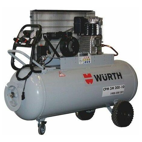Compresseur D'air 200 L 3 Cv Monophasé Wurth 1430