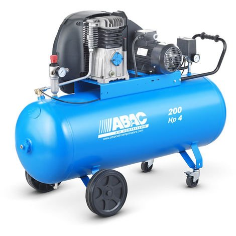 Compresseur d'air 200L 4CV ABAC PRO A39B 200 CT4