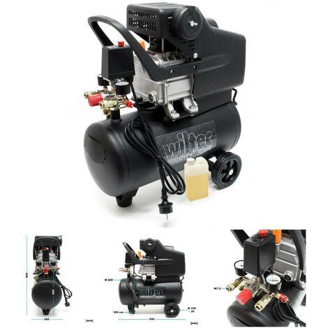 Compresseur d'air 24 L - 8 bars - 1500W - 206 L / MIN