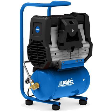 Compresseur d'air 6 litres, 1,5 CV Abac Start Silent OS15P
