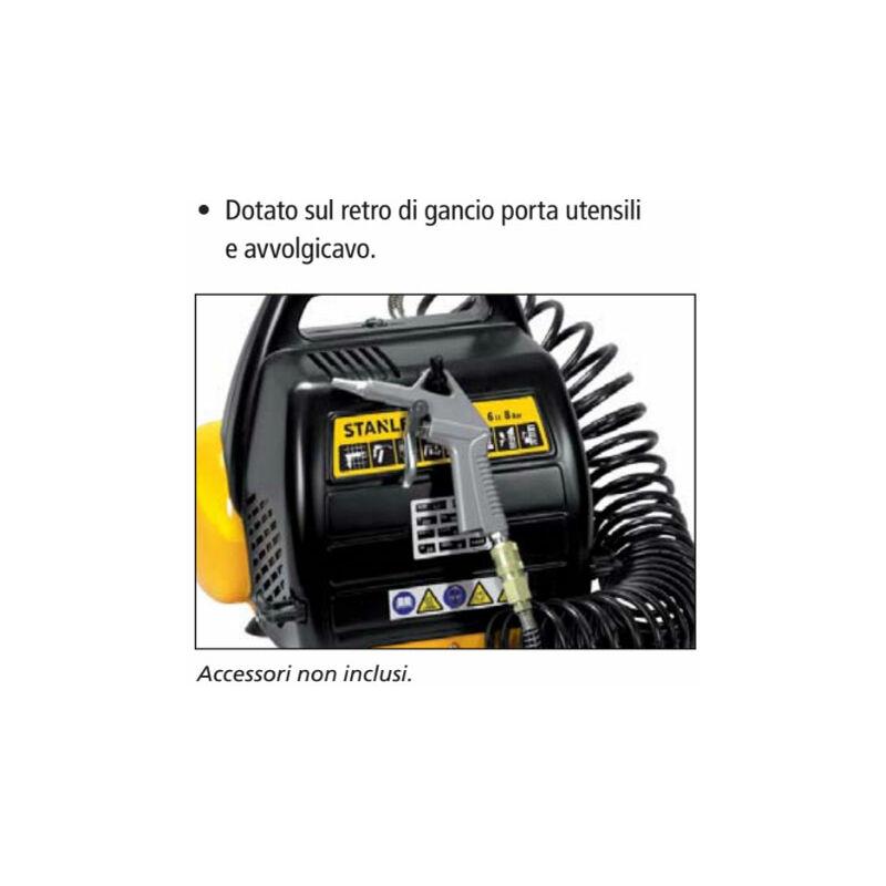 Compresseur D Air 6l Portatif Stanley Dn 200 8 6