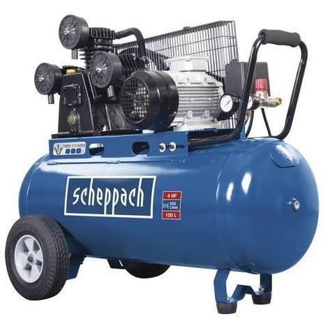 COMPRESSEUR D'AIR A 3 CYLINDRES 100 LT 3000W 4HP 10 BAR SCHEPPACH HC550TC 400V