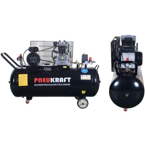 Compresseur d'air à courroie 150 L - 2200W - 10 bars