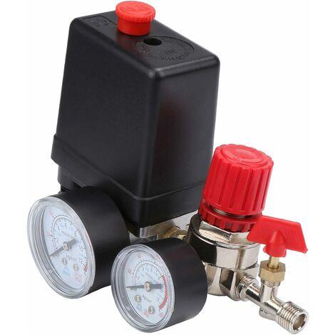 Compresseur d'air Commutateur de Vanne de Pression du Pressostat Compresseur d'Air avec Régulateurs Jauge