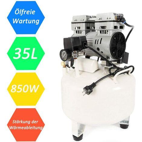 Compresseur d'air, Compresseur Exempt d'huile, Compresseur de Moteur Pneumatique, Compresseur portatif de Lubrification à l'huile (850W 35L) - 1