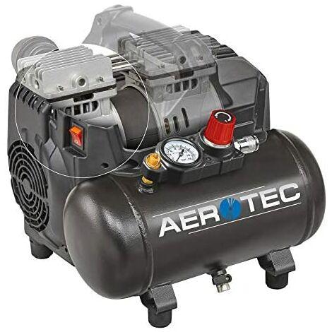 Compresseur d'air comprimé silencieux, 1,0 CV, 6 litres, 8 bars, compresseur d'air silencieux, portable, compresseur supersil 6