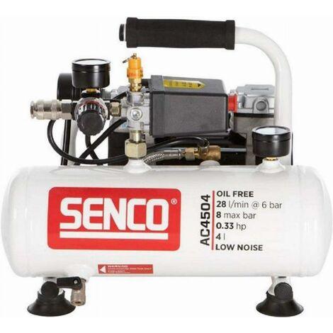"""main image of """"Compresseur d'air discret AC4504 sans huile 4L - SENCO - AFN0024"""""""