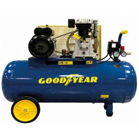 Compresseur d'air électrique 100L à Courroie Goodyear 3CV 2250W 10 bar Débit air 350L/min Gy3100B