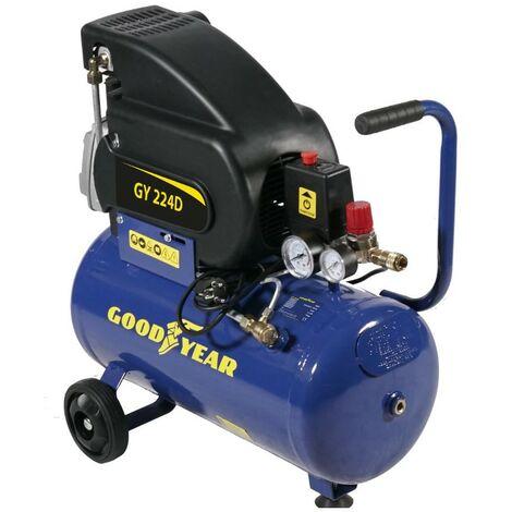 Compresseur d'air électrique 24L GOODYEAR 8 Bar 2CV 1500W 200 Litres/min