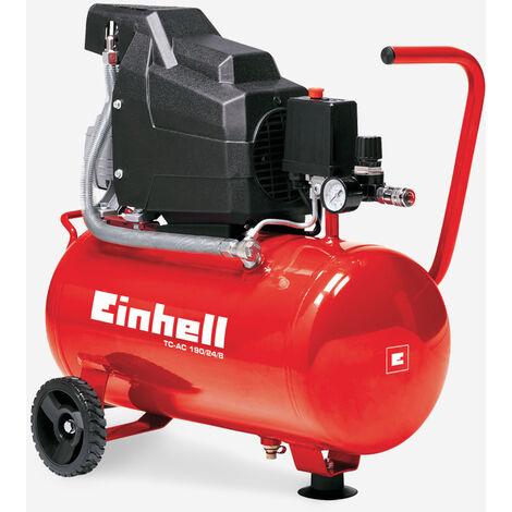Compresseur d'air électrique portable 8 bar 24 litres 1500W 2HP huile Einhell
