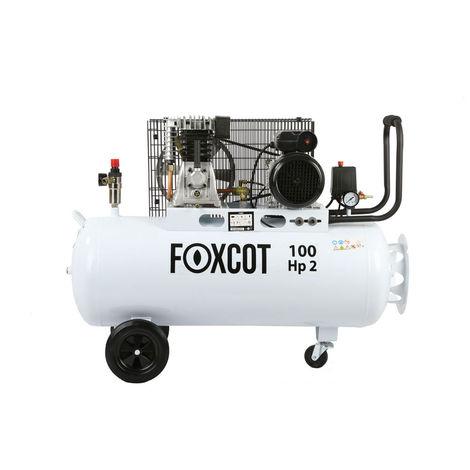 Compresseur d'air Foxcot 100 litres FL100 - kit 5 outils inclus