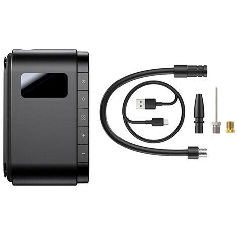 Compresseur D'Air Intelligent Mini Pompe Portative De Pneu De Gonfleur D'Air Avec La Lumiere Led D'Ecran Numerique 4000Mah 120Psi Pompe Gonflable, Noir