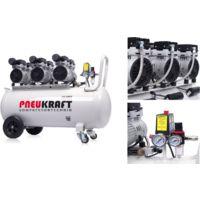 Compresseur d'air sans huile 100 L - 3 X 750 W - 8 bars