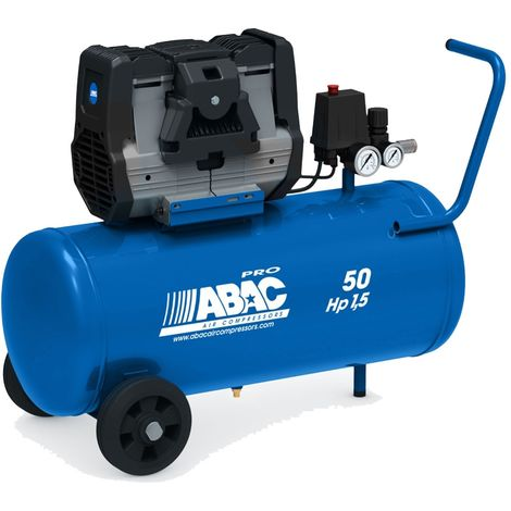 Compresseur d'air silencieux Abac Montecarlo OS15P 50 litres 1,5Hp