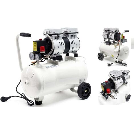Compresseur d'air silencieux 24 L - 700W - 7 Bars