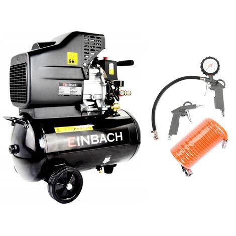 Compresseur Einbach DE-EH24 à huile 2,8 kW 230V cuve 24L + 3 accessoires