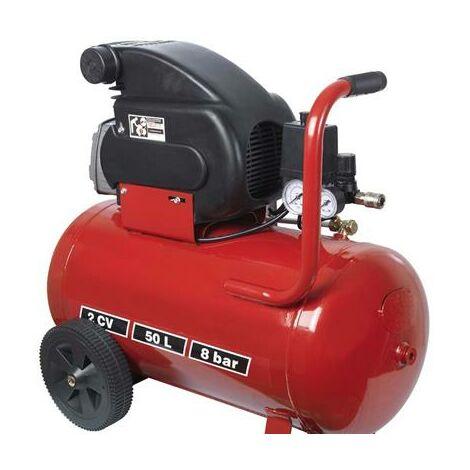 Compresseur électrique 2 cv à huile 50 Litres