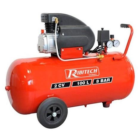 Compresseur électrique 2 CV à huile, cuve 100 L - PRCOMP2/100 - Ribitech