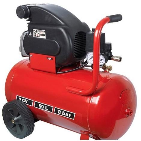 Compresseur électrique 2 CV à huile, cuve 50 L - PRCOMP2/50 - Ribitech