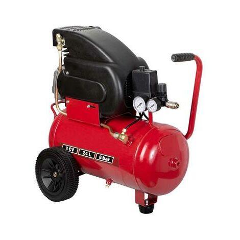 Compresseur électrique 2cv à huile 24 Litres
