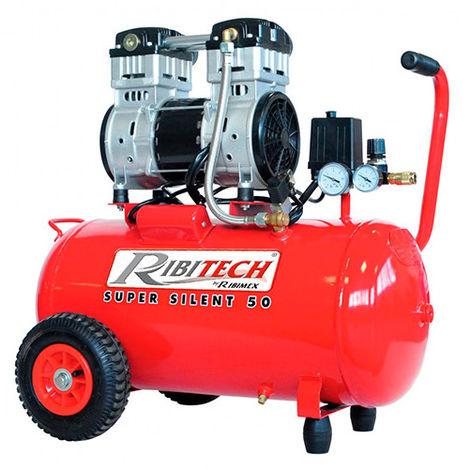 Compresseur électrique silencieux, 2 CV 230 V 50 L