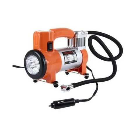 Compresseur gonfleur d'air 12V pour pneu 100 PSI manometre integré + lampe LED