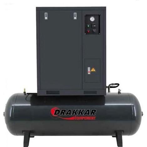 Compresseur INSONORISE 7.5CV TRI Cuve Horizontale 500L Drakkar équipement -S11242