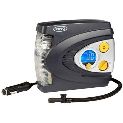 Compresseur pneumatique digital programmable - 12v + Lampe a LED Ring