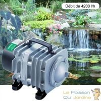 Compresseur - pompe à air 4200 l/h pour bassins de jardin et étangs