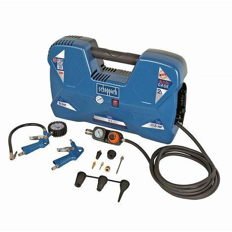 Compresseur portatif SCHEPPACH AIR CASE avec kit d'accessoires
