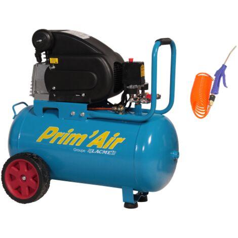 Compresseur Prim'Air 13/50-2 50L 13M³/H Mono 2CV 8 bars LACME - 104200