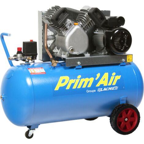 Compresseur Prim'Air 21/100 100L 21M³/H Mono 2 CV 10 bars LACME - 122200