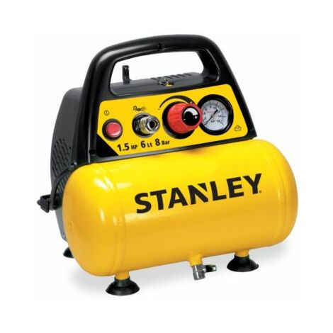 COMPRESSEUR STANLEY 6L 1,5 HP SANS HUILEPRESSION MAXI 8 BAR