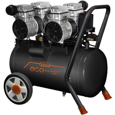 Compresseur super silencieux 50 litres Vinco KWU7502-50L oilless