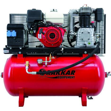 Compresseur thermique 9cv 230l moteur honda - air + elec 220v
