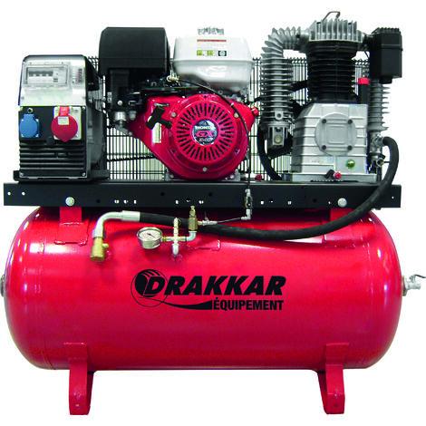 Compresseur thermique 9cv 230l moteur honda - air + elec 380v