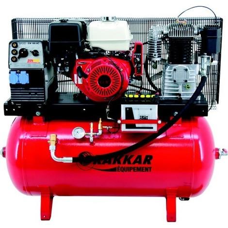 COMPRESSEUR THERMIQUE MIXTE - AIR + COURRANT 220V 230l SOUDURE -S11254