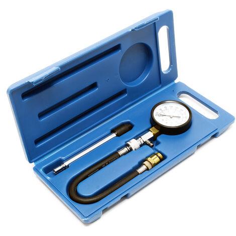 Compressiomètre pour moteurs Essence Coffret de 3 pièces Kit Testeur de compression Outil de mesure