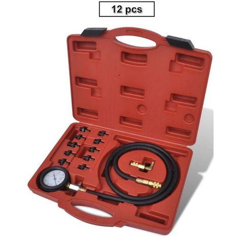 Compressiomètre Testeur Huile Moteur Multi Marques 12pcs