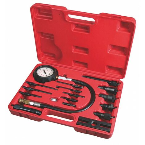 Compressiomètre universel, moteur diesel, 17 pièces, connecteurs assortis - AUTOBEST