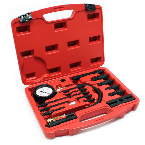 Compression tester for diesel engines TDI and CDI 0-70 bar Set in a case