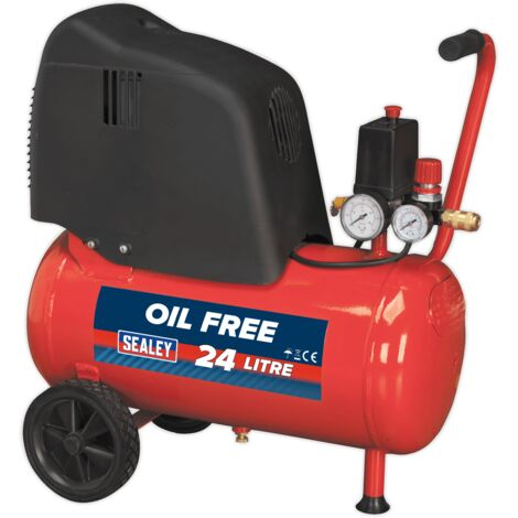 Compressor 24ltr Belt Drive 1.5hp Oil Free