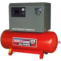 Compressor 270ltr Belt Drive 5.5hp 3ph 2-Stage with Cast Cylinders Low Noise