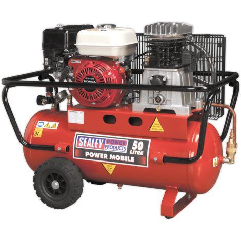 Compressor 50ltr Belt Drive Petrol Engine 5.5hp
