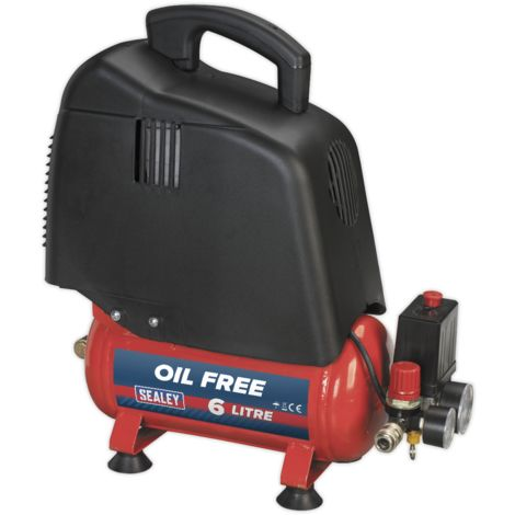 Compressor 6ltr Belt Drive 1.5hp Oil Free
