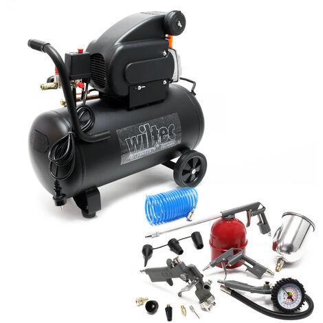 Compressore 50 litri con set di accessori da 13 pz. Compressore d'aria compressa con accessori