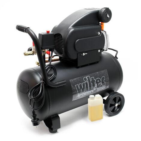 Compressore 50 litri motore da 1,5 kW 8 bar con rotelle Compressore d'aria compressa
