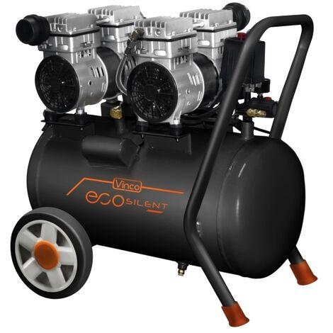 Compressore 50lt. a secco silenziato a doppia testata Vinco - 60706 EcoSilent
